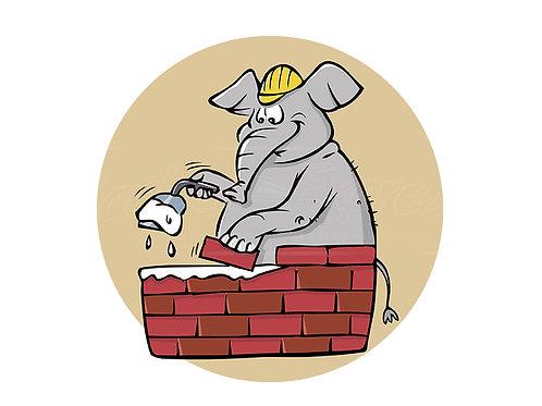 elephant bricklayer