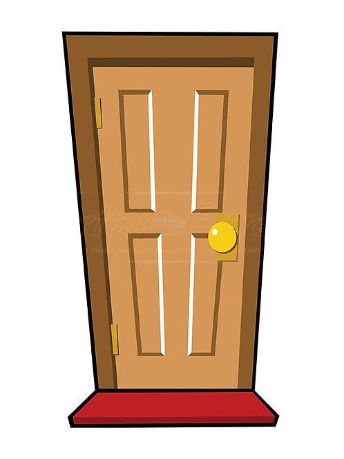 door brown front