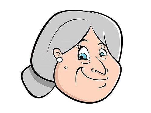 old lady hairbun