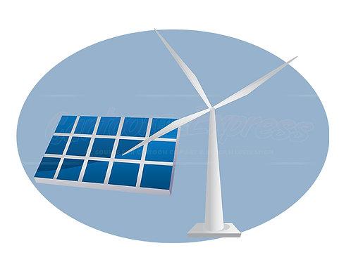solar power wind turbine