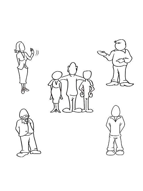 people standing outlines