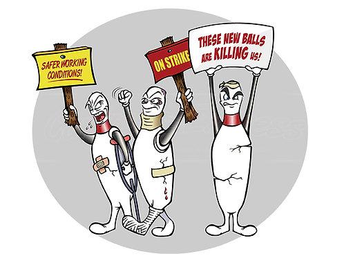 bowling pins on strike