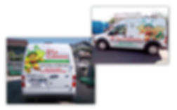 Vehicle wrap graphics for d'la Colmena Mexican catering service