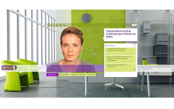 e-learning module for 6mul, an interview simulation agency