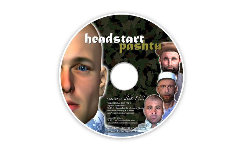 Instructional CD package design with soldiers for defense contractor