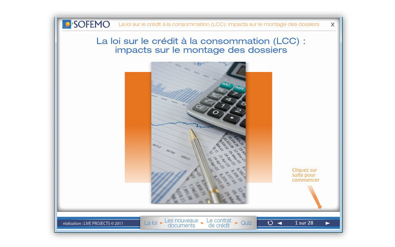 e-learning module for SOFEMO, a French client