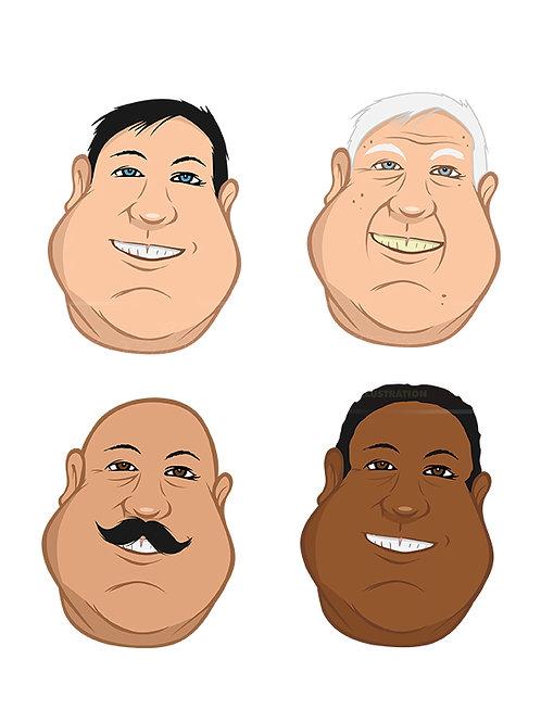 male heads fat