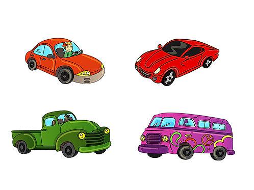 cars trucks vans