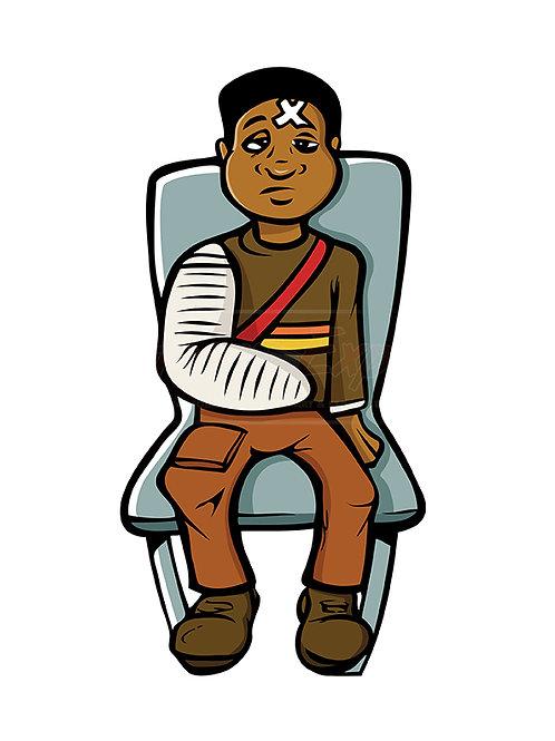 black boy broken arm
