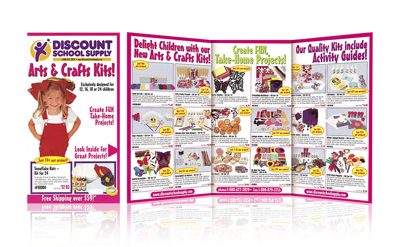 Tri-fold brochure for children's educational products supplier