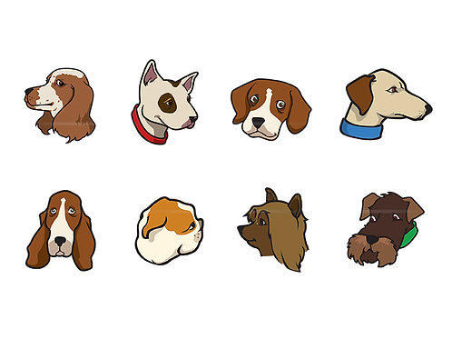 dog head collection