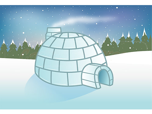 igloo snow scene