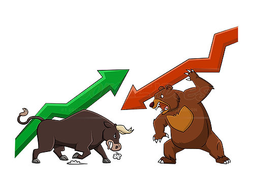 Bull and Bear market characters