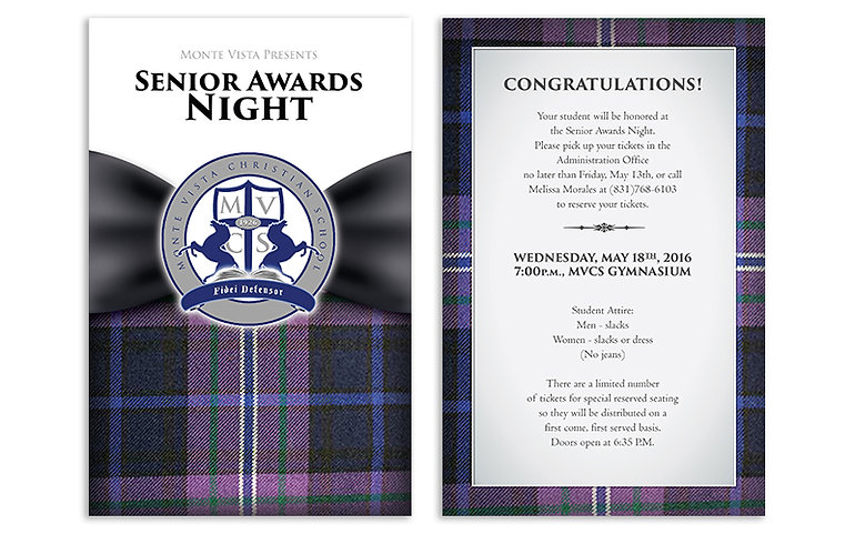 Senior Awards invites for private school