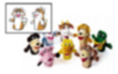 cartoony animal puppet design for children's educational products supplier