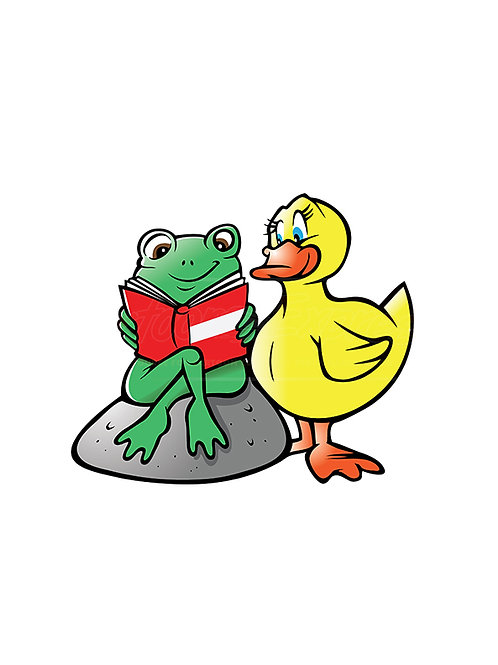 frog duck reading