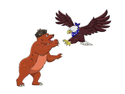 Russian bear vs American eagle