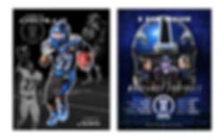 football poster designs for Monte Vista Christinschool