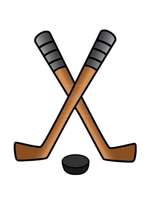 hockey puck stick