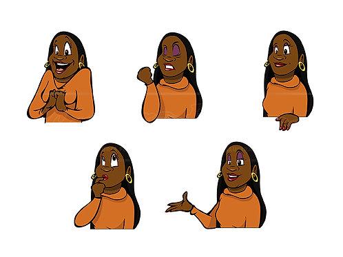 female black expressions
