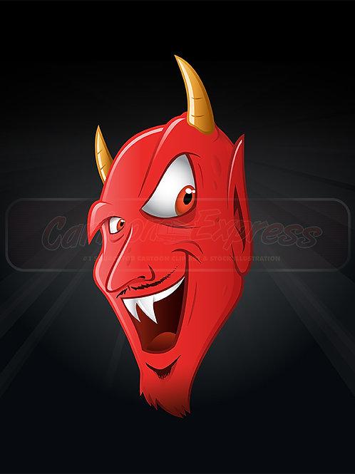 Satan smiling