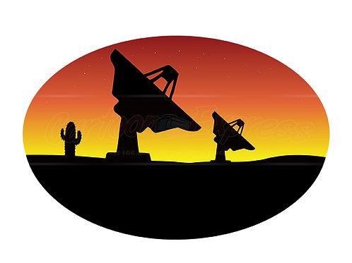 satellite dish desert
