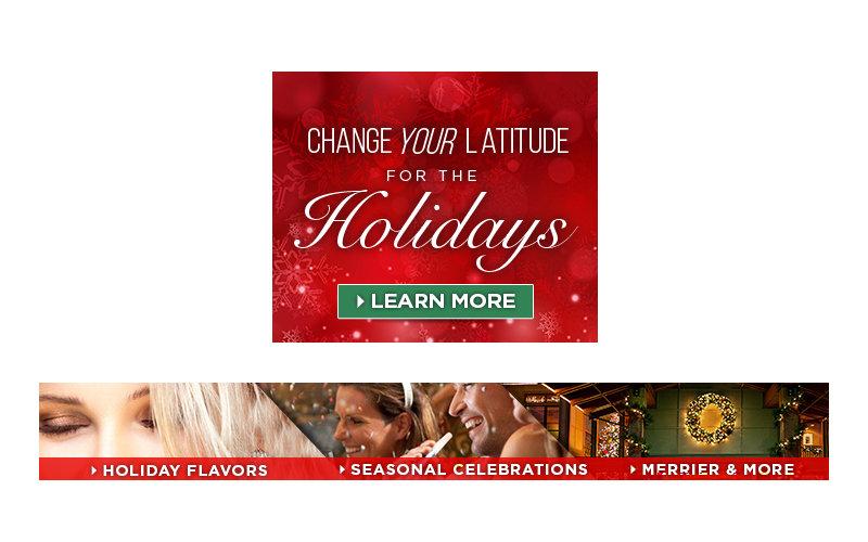 animated Christmas Flash ads for Benchmark Hospitality