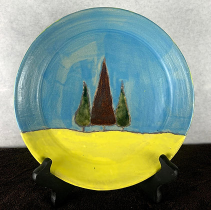 3 Trees Plate
