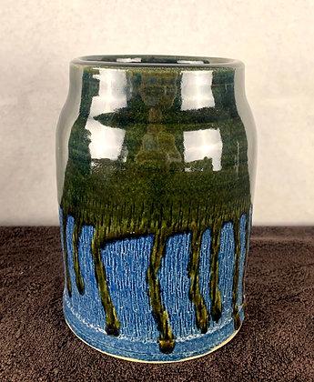 Blue green vase