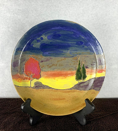 Sundown landscape plate