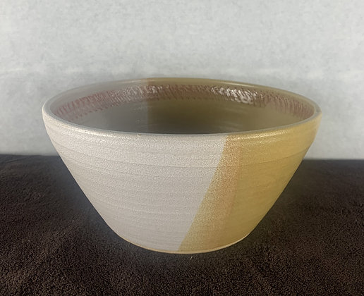 Large two tone mixing bowl