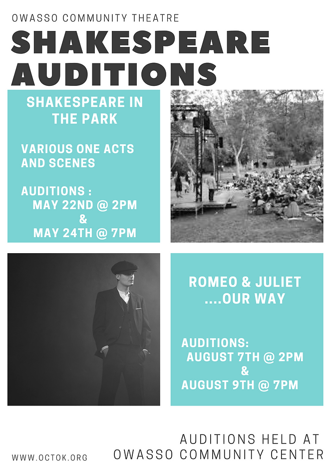 Gray and Teal Auditions Photo Grid Flyer