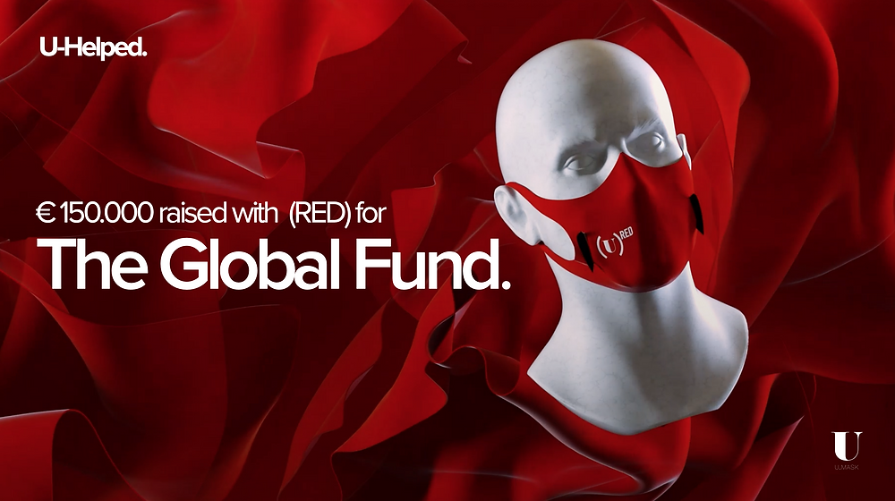 €150,000 raised with (RED) for The Global Fund