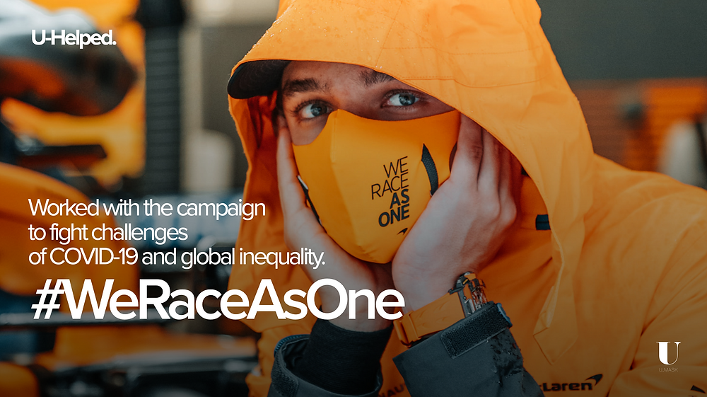 Worked with the #WeRaceAsOne campaign to fight challenges of Covid-19 and global inequality