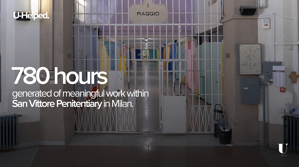 780 hours generated of meaningful work within San Vittore Penitentiary in Milan