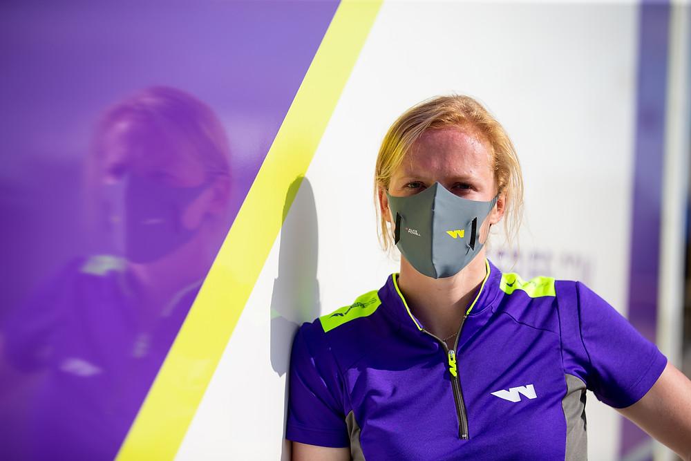 Alice Powell from W Series wearing U-Mask