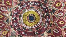 Detail, indische Hochzeitsdecke
