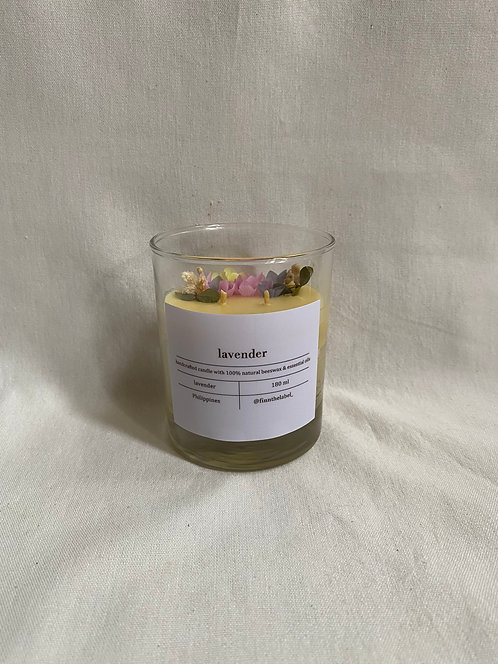 Keukenhof Garden Scented Beeswax Candles in Glass 180ml