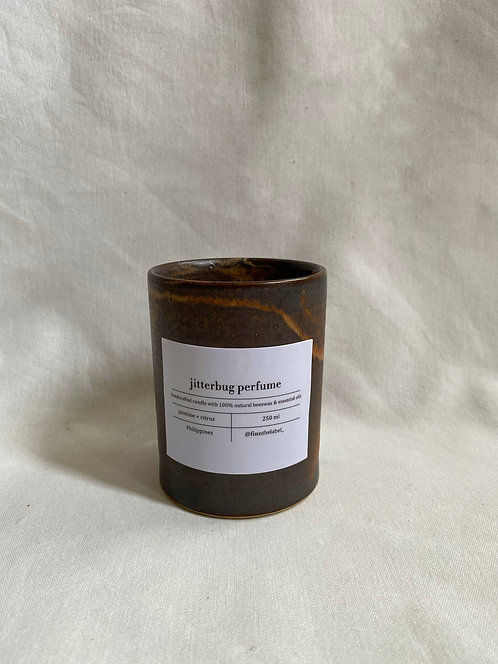 Scented Beeswax Candle in Kalinga Cup 250ml