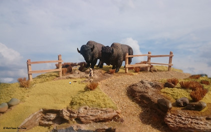 Bison and Prarie Dogs