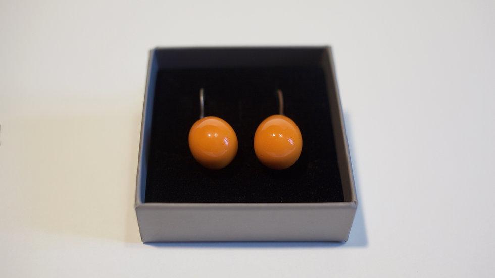 Orecchini pendenti Olive- Nuts Arancione