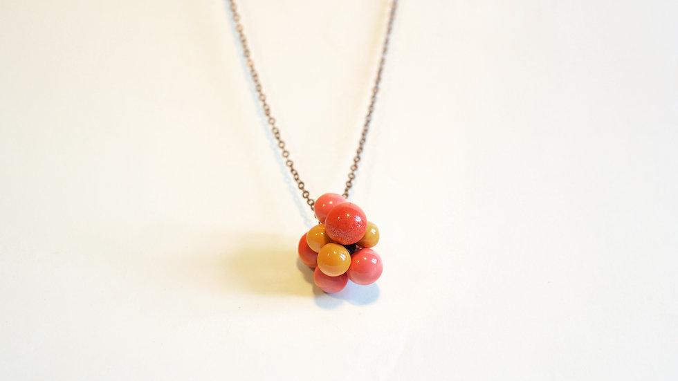 Ciondolo Nuts Arancione, Rosso Corallo e Rosa Corallo
