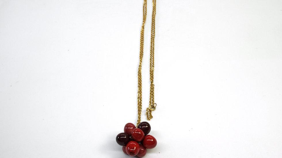 Ciondolo Nuts Rosso Cardinale, Borgogna, Melanzana