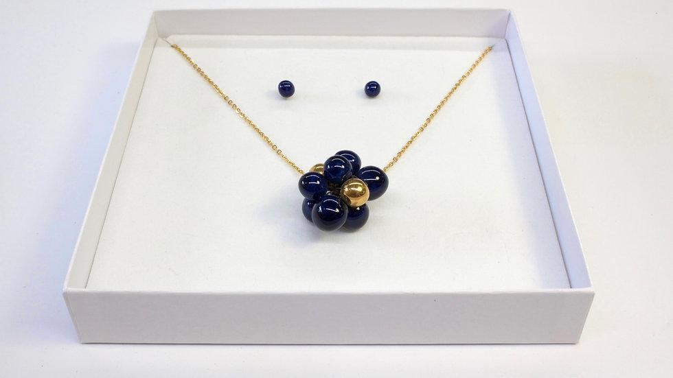 Ciondolo Nuts Blu Galassia, Blu Cobalto e Oro