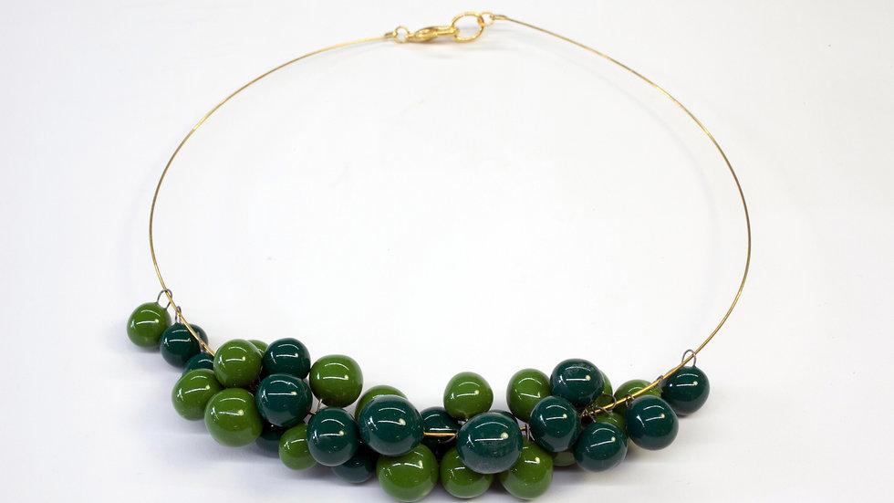 Collana Nuts Verde Bosco, Verde Trifoglio
