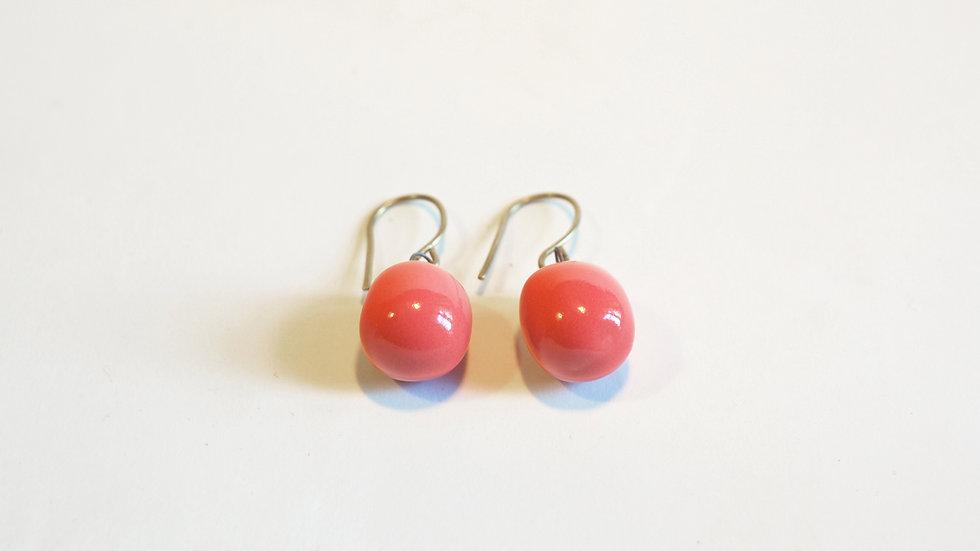 Orecchini pendenti Olive-Nuts Rosa Corallo