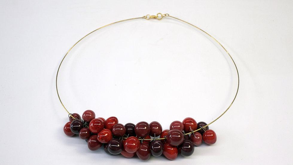 Collana Nuts Rosso Cardinale, Borgogna, Melanzana