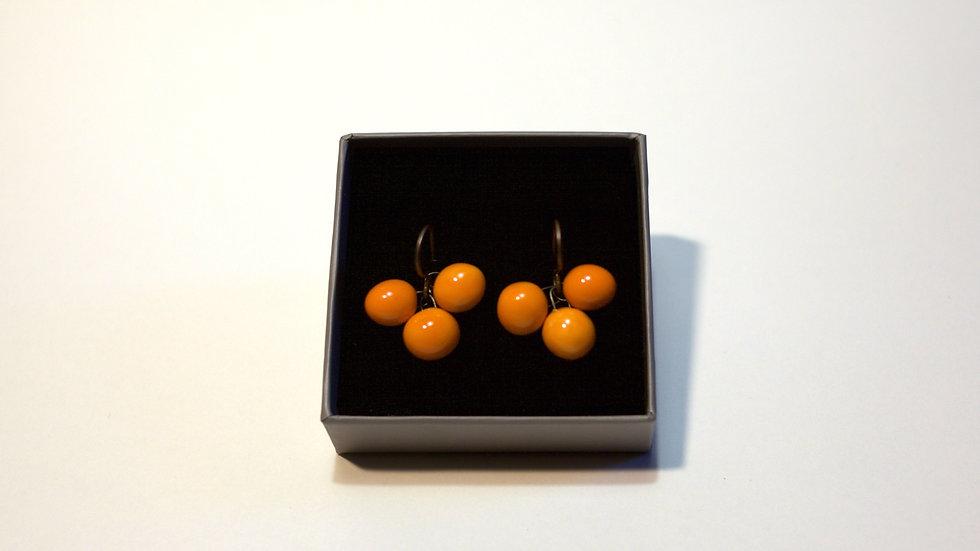 Orecchini a pendente Arancione