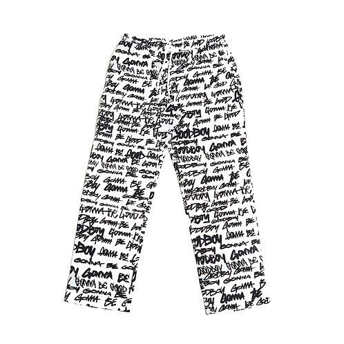 TAG OVERPRINTED PANTS