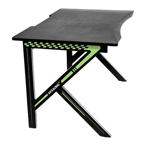 AKRacing Summit Gaming Desk, Black & Green, Steel Frame, Cable Management, Gami